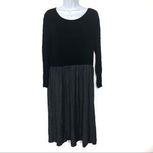 NWOT Three Dots 1X Fit Flare Dress Colorblock